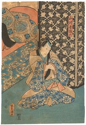 Genuine original Japanese woodblock print by Toyokuni III