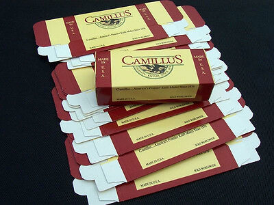 "Lot of 10 Camillus Empty Pocket Knife Boxes for Knives 6 1/4"" X 2 5/8"""