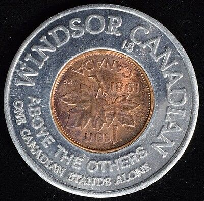 1981 Canadian Encased Lucky Cent - Windsor Canadian