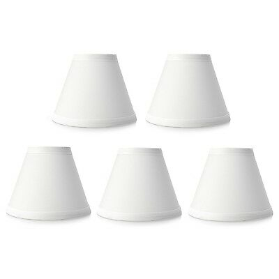 """Style at Home with Margie Set of Five 6"""" Chandelier Shades White NEW"""