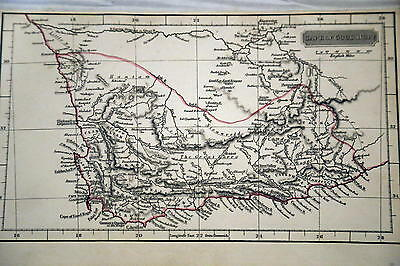 1830 Rare Arrowsmith Beautiful Antique Atlas Map-Cape Of Good Hope-Handcolored