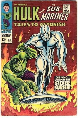 Tales to Astonish #93 (1967)  FN+ 6.5  1st full Silver Surfer crossover