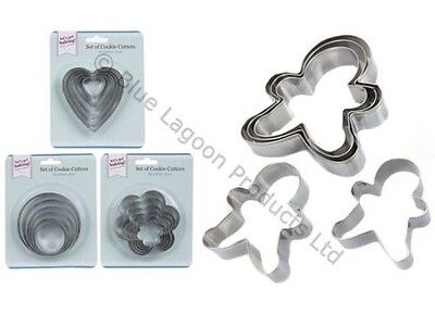 Cookie Cutter Set Metal Tin Biscuit Scone Pastry Mould Baking Kitchen Cake Bake