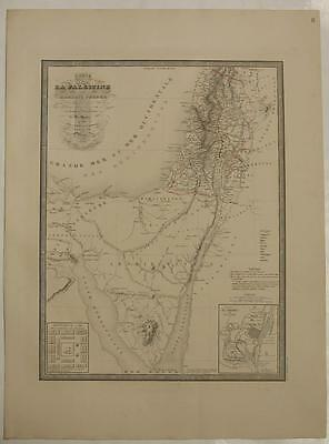 Israel Holy Land Egypt 1840 Andriveau-Goujon Large Antique Lithographic Map