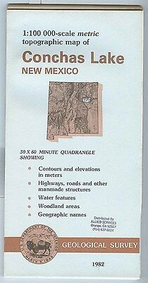US Geological Survey topographic map metric CONCHAS LAKE New Mexico 1982