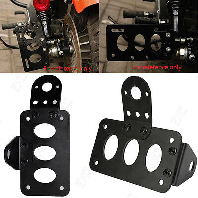 Motorcycle Axle Side Mount Number License Plate Rear Taillight Bracket Holder