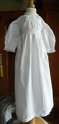 Antique Edwardian white cotton baby or doll's dress - bobbin & Swiss lace trim