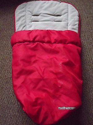 Mothercare My Choice My3  My4 Footmuff Liner In Red