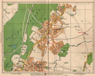 NE LONDON. Loughton Epping Forest Buckhurst Hill Debden Chigwell 1938 old map