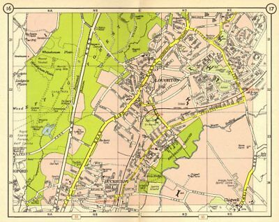 NE LONDON. Loughton Epping Forest Buckhurst Hill Debden Chigwell 1953 old map