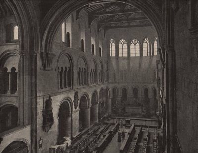 St. Bartholomew's-the-Great. London. Churches 1896 old antique print picture