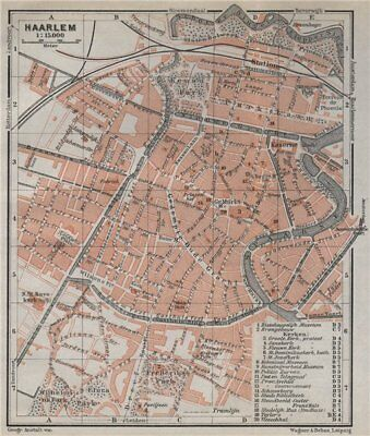 ANTIQUE MAP-NETHERLANDS-TOWN PLAN-WOUBRUGGE-ZUID HOLLAND ...