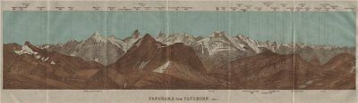 PANORAMA from/vom FAULHORN. Berner Oberland. Bernese Oberland 1911 old map