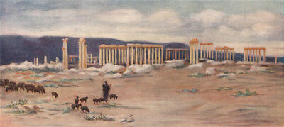 'General view of the colonnade, Palmyra' by Margaret Thomas. Syria 1908 print