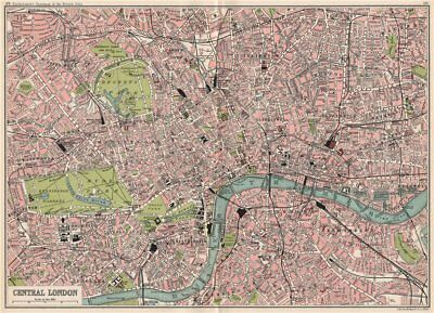 CENTRAL LONDON antique town/city plan. BARTHOLOMEW 1904 old map chart