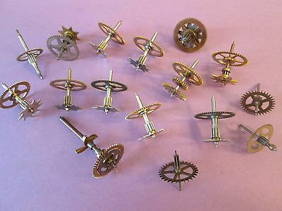 16 Assorted Brass and Steel Clock Parts for Antique & Vintage Clocks