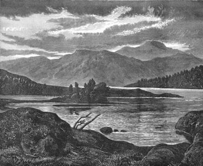 SCOTLAND. Lake-Landseer c1880 old antique vintage print picture
