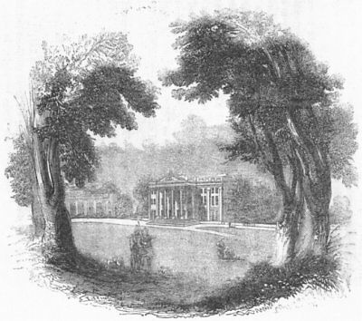 HERTS. Mansion at Moor Park 1845 old antique vintage print picture