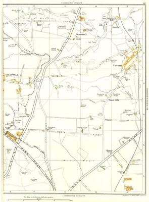 YORKSHIRE.Shadwell,Sand Hills,Scarcroft Hill,Thorner,Morwick Hall 1935 old map