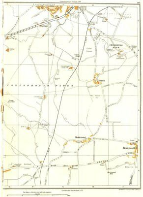YORKSHIRE.Conisbrough Parks,Crookhill,Micklebring,Braithwell,Clifton 1935 map