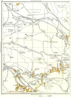 DARFIELD.Low Valley,Snape Hill,Edderthorpe,Cudworth,Wombwell,Ardsley 1935 map
