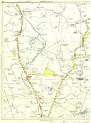 LANCS.Lydiate,Aughton,Brookfields Green,Downholland Cross,Maghull 1935 old map