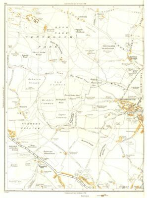 ROTHERHAM.Greasebrough,Wingfield,Kimberworth Park,Nether Haugh 1935 old map