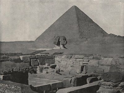 GIZA. The Great Pyramid, The Sphinx, and the Temple of Chafea. Egypt 1895