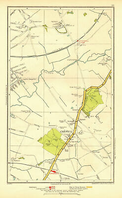 ESSEX. Chigwell Loughton Debden Patch Park River Roding 1937 old vintage map