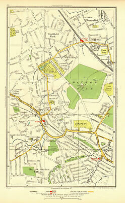 PINNER. Hatch End North Harrow Eastcote Royston Park Westfield Park 1937 map