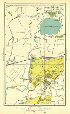 SURREY. Esher Lower Green West End Sandown Park West Molesey 1937 old map