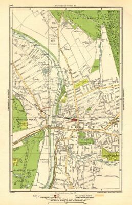 KINGSTON-UPON-THAMES TEDDINGTON East Molesey Bushy Park GEOGRAPHERS A-Z 1964 map