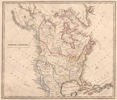 NORTH AMERICA showing Texas Republic & Western USA as Mexican. JOHNSON 1850 map