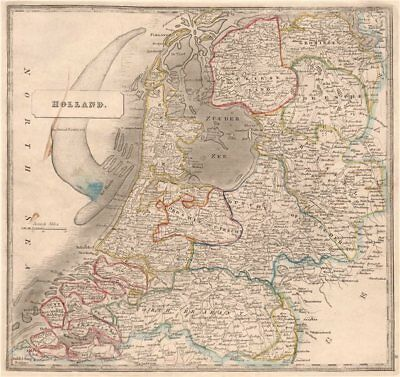 HOLLAND. Lordship of Utrecht. The Broad Fourteen. 'The Harde'. JOHNSON 1850 map