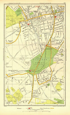 SUTTON CHEAM BANSTEAD. Belmont Nork East Ewell Carshalton Beeches 1937 old map
