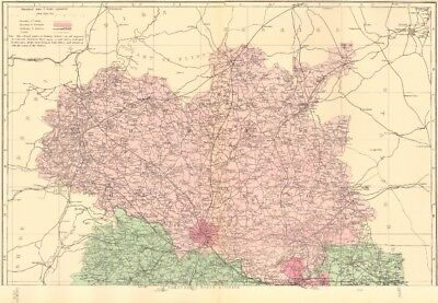 SHROPSHIRE (North). Antique county map by GW BACON 1883 old chart
