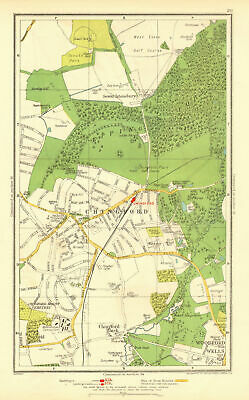 CHINGFORD. Woodford Wells Epping Forest Sewardstonebury Suffield Hatch 1937 map