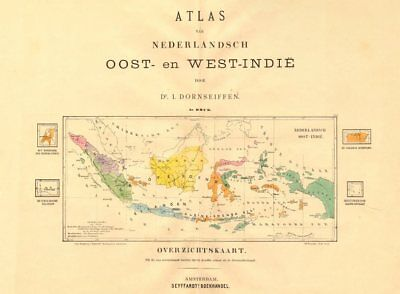 DUTCH EAST INDIES. Indonesia. DORNSEIFFEN 1892 old antique map plan chart