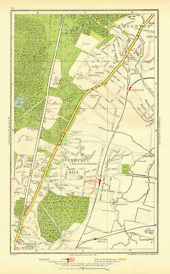 ESSEX. Buckhurst Hill Loughton Woodford Wells Roding Valley 1937 old map