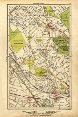 CRICKLEWOOD. Brondesbury,Fortune/Golders Green,Hampstead,Child's Hill 1928 map