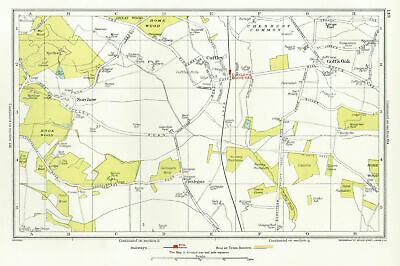HERTFORDSHIRE. Cuffley Goff's Oak Northaw Potters Bar 1933 old vintage map