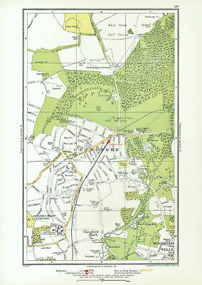 CHINGFORD. Woodford Wells Epping Forest Sewardstonebury Suffield Hatch 1933 map