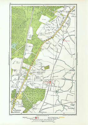 ESSEX. Buckhurst Hill Loughton Woodford Wells Roding Valley 1933 old map