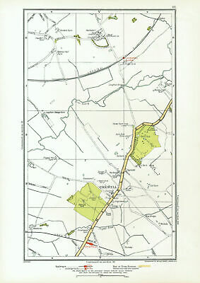 ESSEX. Chigwell Loughton Debden Patch Park River Roding 1933 old vintage map