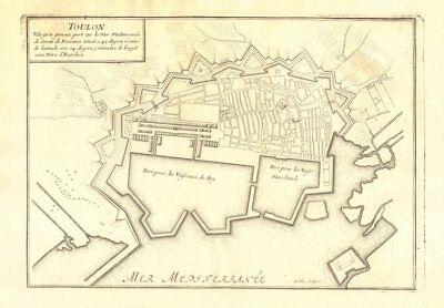Europe Maps Var 1890 Old Map Chart HyÈres Antique Town City Plan De La Ville