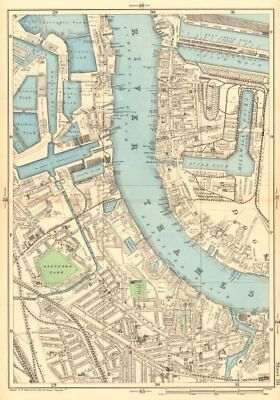 MILLWALL DEPTFORD Surrey & West India Docks Isle of Dogs Canary Wharf 1903 map