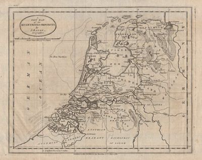 """""""A new map of the Seven United Provinces"""". Netherlands. BAYLY 1783 old"""
