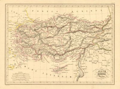 'Asie Mineure Ancienne'. MALTE-BRUN. Ancient Turkey Asia Minor Barbary 1836 map