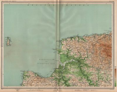 NORTH DEVON Ilfracombe Barnstaple Bideford Exmoor Clovelly Lundy. LARGE 1903 map