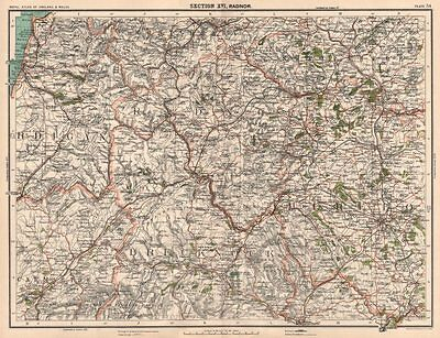 SOUTH CENTRAL WALES. Brecon Beacons Shropshire Hills Plylimon Radnor 1898 map